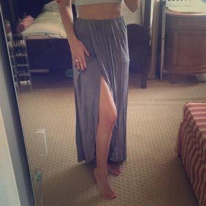 Neiman Marcus grey asymmetrical maxi skirt size xs